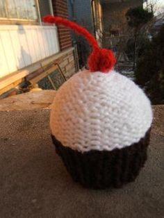 Knitted Cupcakes from Blah, Blah, Blahhhg
