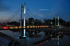 Il ponte sul fiume Wang al tramonto, vivere #Lampang #rainbowRTW #tatroma