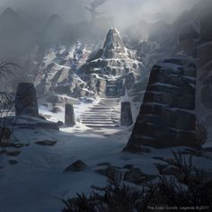 "scenesfromtamriel: ""Mount Athor, by Jason Kang for Elder Scrolls Legends """