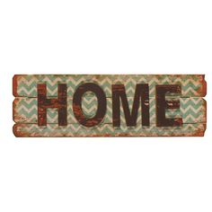 Wood wall decor with a distressed chevron background and text detail.   Product: Wall decorConstruction Material: