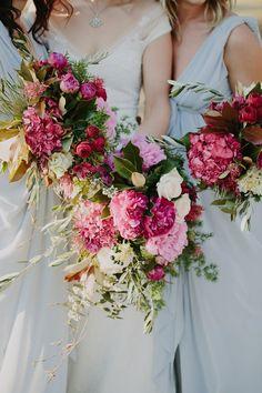 Vibrant bouquets by Brisbane florist French Flowers | Photography by Heart & Colour | nouba.com.au