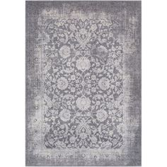 Looking to craft a new look in your room? Roll out this rug to refresh your look and add a charming foundation. Simple yet stylish, it can bring a touch of cottage-chic appeal to any aesthetic from traditional to rustic. It showcases a Persian-style motif with an intricate scrolling floral pattern and botanical border. The gray color palette adds versatility to this piece, while the distressed detailing adds character. It is crafted from 55% polyester and 45% polypropylene, so it is stain…