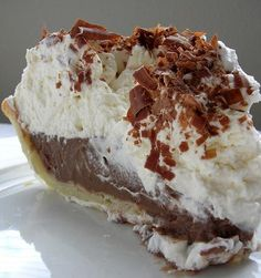 Chocolate Cream Pie - Made this for Thanksgiving. To die for. It was literally gone in 3 minutes.