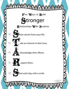 Five Ways to Build Stronger Relationships with Students