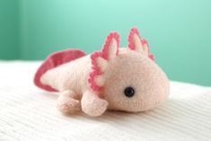 Sewing Stuffed Animals, Cute Stuffed Animals, Stuffed Animal Patterns, Kawaii Plush, Cute Plush, Kawaii Felt, Axolotl, Softies, Plushies