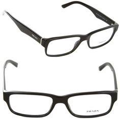 5d5d0f13538 Prada Eyeglasses VPR16M VPR-16M 1AB-1O1 Gloss Black Full Rim Optical Frame  55mm