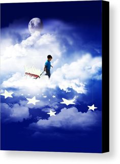 Star Boy Canvas Print by #Gravityx9  Designs.    #FineArtAmerica  #FAA #StarBoy