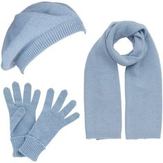 John Lewis Made in Italy Cashmere Scarf, Gloves and Beret Set, Light... ($180) ❤ liked on Polyvore featuring accessories, scarves, light blue scarves, cashmere scarves, john lewis, light blue shawl and cashmere shawl