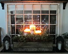 Love the raised candles in front of the fireplace
