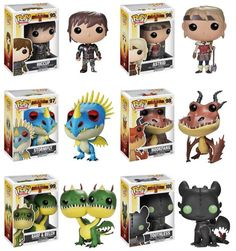 Funko Pop! Movies: How to Train Your Dragon Set of 6 (Hiccup, Astrid, Stormfly, Hookfang, Barf & Belch & Toothless) Available May 1, 2014
