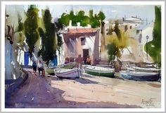 """Amit Kapoor,  Cadaques, Spain..  22""""X15"""""""