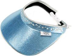 Glove It Ladies Bling Golf Visors (w/Twist Cord) - Light Blue | via @lorisgolfshoppe
