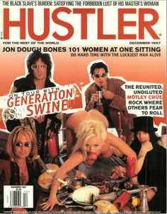 #throwbackthursday Mötley Crüe on the cover of Hustler Mag Dec 1997 #tbt