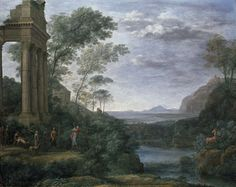 Claude Lorrain, Landscape with Ascanius shooting the Stag of Sylvia, 1682 | © Ashmolean/WikiCommons