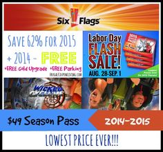 six flags season pass free days
