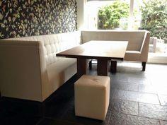Eettafel vierkant met hoek eetkamerbank | Eetkamer inrichting ...