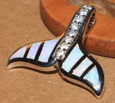 "white fire opal Cz necklace pendant Gemstone silver jewelry elegant modern 1"" LO #Pendant"