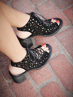 Free People Perf Minimal Lace Heel