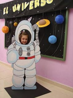 For a photo area in the lobby? Class Decoration, School Decorations, Decoration Party, Nasa Party, Space Classroom, Outer Space Theme, Galaxy Theme, Space Party, Vacation Bible School