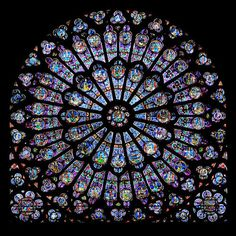 Notre Dame Rose Window  #rosone #paris While this is not the rose window used in my story, I do mention the blues reflected in the moonlight. My rose window has a cross and lilies and roses.