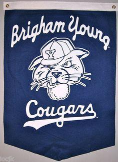 BYU Brigham Young Cougars Vintage Banner   eBay