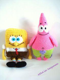 Pattern, SpongeBob And Patrick Star Pattern, Crochet Tutorial, Amigurumi Pattern - Crochet Pdf Tutorial, Instant Download