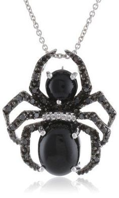 Sterling Silver Onyx with Genuine White and Black Diamonds Spider Pendant Necklace, 18 Jewelry Trends 2018, Latest Jewellery Trends, Trendy Jewelry, Jewelry Accessories, Fashion Jewelry, Black Diamond Jewelry, Silver Jewelry, Silver Ring, Jewelry Necklaces