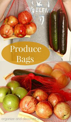DIY Produce Bags - Organize and Decorate Everything