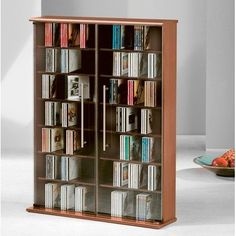 PREMIUM Mezzano Rustic Oak Colour Wooden Media Storage Tower Shelf Rack Cabinet Unit with Glass Doors for CD & DVD [holds  420 CDs or 160 DVDs] VM has been published to http://www.discounted-tv-video-accessories.co.uk/premium-mezzano-rustic-oak-colour-wooden-media-storage-tower-shelf-rack-cabinet-unit-with-glass-doors-for-cd-dvd-holds-420-cds-or-160-dvds-vm/