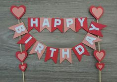 Birthday Happy Cake Kids New Ideas Diy Birthday Banner, Happy Birthday Cakes, Birthday Cake Toppers, Birthday Decorations, Birthday Party Themes, Cake Birthday, Diy Crafts For Girls, Diy And Crafts, Cake Banner