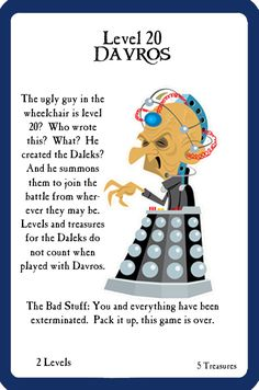 Doctor Who custom doctor who dw munchkin card game geek davros