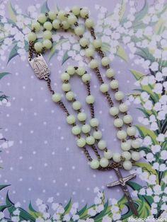 antiguo rosario frances de fatima metal y cuent - Comprar Rosarios Antiguos en todocoleccion - 158112150