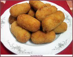 Que buenas están estas croquetas.....es una receta distinta y se hacen con maizena así la masa es mas cremosa y blandita...... seguro que ...