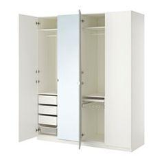 PAX armoire-penderie, blanc, Tanem Vikedal Largeur: 200 cm Profondeur: 60 cm Hauteur: 236.4 cm