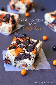 Halloween Oreo Cake Bars