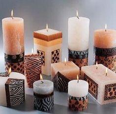 Leopard/Animal Print Candles Estella Seraphim