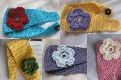 Crocheted ear warmer headbands. Cute!