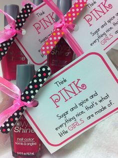 Girl baby shower favor tags!
