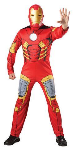 """Naamiaisasu; Ironman  Lisensoitu Marvelin Ironman. Rautamies (engl. Iron Man) on Marvelin supersankari. Rautamiehen salainen henkilöllisyys on liikemies Anthony """"Tony"""" Stark, joka loi Rautamiehen haarniskan alun perin ylläpitämään elintoimintojaan. Myöhemmin Rautamies on ollut mm. Kostajien jäsen. Haarniskansa avulla Rautamies pystyy esimerkiksi tulittamaan repulsoreilla ja lentämään. #naamiaismaailma"""