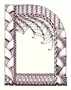 tangle art frame