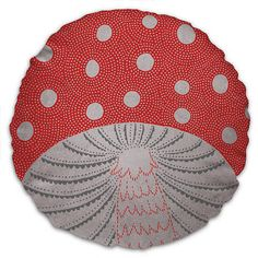 Toadstool Cushion - Red