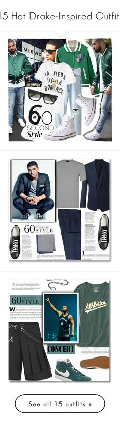 """15 Hot Drake-Inspired Outfits"" by polyvore-editorial ❤ liked on Polyvore featuring DRAKE, waystowear, Être Cécile, Converse, Tom Ford, Sarah Coventry, views, 60secondstyle, Dolce&Gabbana and Giorgio Armani"