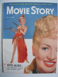 MOVIE STORY MAGAZINE JULY 1949 BETTY GRABLE COVER ISSUE