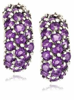 Sterling Silver Amethyst Earrings - Rellek Jewelry