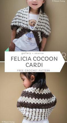 Cute Cardigans for Kids Crochet Girls, Crochet Baby Clothes, Cute Crochet, Crochet For Kids, Crochet Dresses, Baby Girl Patterns, Kids Patterns, Newborn Outfits, Kids Outfits