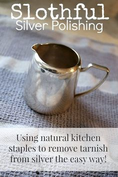 How to Clean Really Tarnished Silver Naturally!   The Creek Line House   Natural Solutions Deep Cleaning Tips, House Cleaning Tips, Natural Cleaning Products, Spring Cleaning, Cleaning Hacks, Cleaning Solutions, Cleaning Items, All You Need Is, Feng Shui