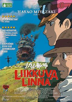 Liikkuva linna 5,95 e Howl's Moving Castle, Takuya Kimura, Hayao Miyazaki, Totoro, Finland, Sci Fi, Novels, Anime, Movie Posters