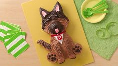 This handsome pup will win you wows from every pet lover at your next party! Print this handy cake template to make cutting out the pieces a snap.