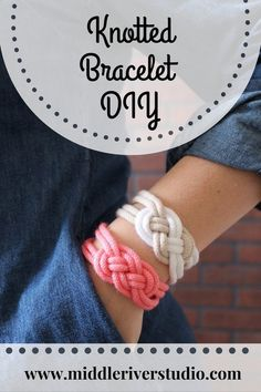Diy bracelets with string easy products 27 Ideas - DIY Jewelry Crafts Ideen Diy Bracelets With String, Yarn Bracelets, Kids Bracelets, Bracelet Knots, Knotted Bracelet, Summer Bracelets, Diamond Bracelets, Ankle Bracelets, Bracelet Making