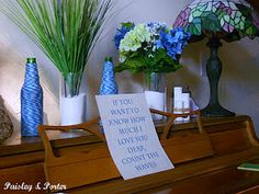 decorations and quote on piano for nautical theme baby shower